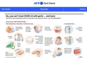 Kuvakaappaus AFP:n faktantarkistussivustolta.