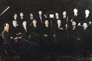 Petroskoin radiokomitean orkesteri 1932.