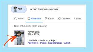 Kuvakaappaus verkkokaupasta liminka-suomi.fi. Kaupan väitetyn perustajan kuvaa haetaan käänteisellä kuvahaulla tietokoneen Firefox-selaimella. Kuva 4/5.