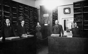 Alkoholiliikkeen myymälä Mikkelissä vuonna 1933