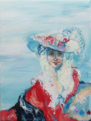 Krista Launosen maalaus Elisabeth Vigèe le Brunille.