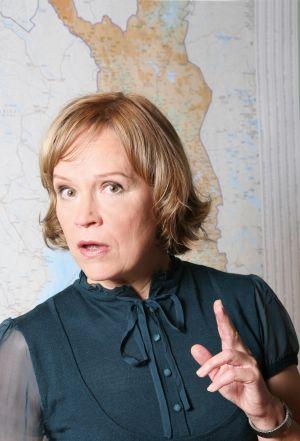 Ihmisten puolueen Regina Mälkki (Kaija Pakarinen) vuonna 2009.