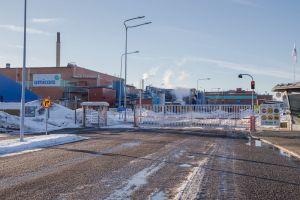 Umicores koboltförädling ligger i Karleby. På bilden syns industriområdet där fabriken finns.