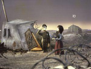 Kuva Tyttö ja sotamies -animaatiosta