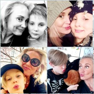 Kaksi kuvaa äidistä ja lapsista