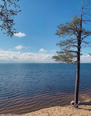 Näkymä Ärjänsaarelta Oulujärvelle.