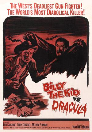 Elokuvan Billy the Kid kohtaa Draculan englanninkielinen mainosjuliste.