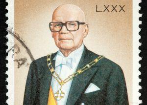Kuva presidentti Kekkosen postimerkistä