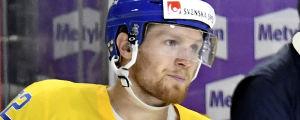 Gabriel Landeskog spelar för Sverige vid ishockey-VM.