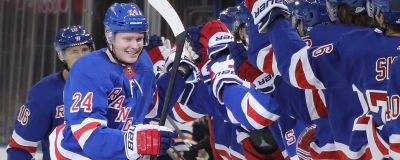 Kaapo Kakko firar sitt första NHL-mål.