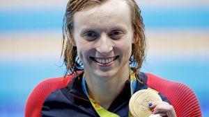 Katie Ledecky är en amerikansk simmare.