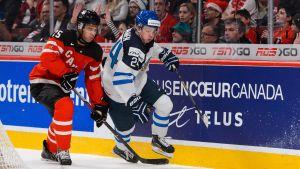 Kasperi Kapanen, U20-VM i Kanada, mot Kanada.
