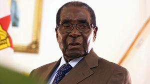 Zimbabwes president Robert Mugabe.