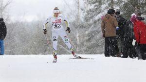 IF Minkens Julia Häger i elden i skidspåret vintern 2016-2017.