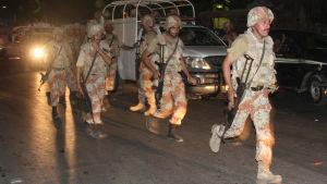 Attack mot flygplatsen i Karachi, Pakistan.