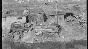 Kaksikymmentä nuorta miestä asui tässä slumminkaltaisessa hökkelikylässä New Jerseyssä vuonna 1937
