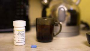 En pillerburk av märket Truvada, som är en hivmedicin.