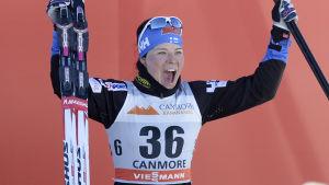 Krista Pärmäkoski fick stiga upp på pallen igen.