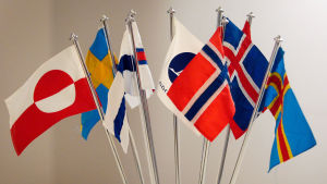 De nordiska flaggorna.