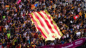 Demonstration för folkomröstningen om Kataloniens självständighet i Barcelona den 28 september 2017.