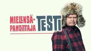 Mielensäpahoittaja (Heikki Kinnunen) pettyneen näköisenä + teksti Mielensäpahoittaja-testi