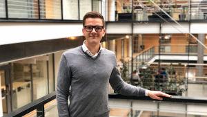Thorax ordförande Fredrik Ahlström vid medicinska fakulteten.