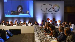 G20 toppmötet förbereddes av finansministrarnas möte i Buenos Aires den här veckan
