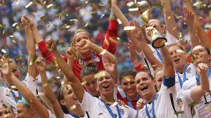 USA firar VM-guld 2015.