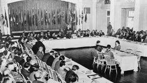 Delegater samlas i Bretton Woods, 1944