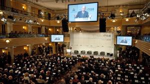 Säkerhetskonferens i München på hotellet Bayerischer Hof.