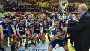RK Zagreb firar kroatiskt ligaguld våren 2013.