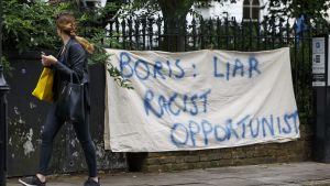 Kritik mot brittiska politikern Boris Johnson.