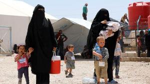 Al-Hol-lägret i Syrien.