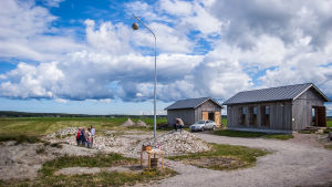 Vy över ett par av byggnaderna vid Meteoria Söderfjärden.