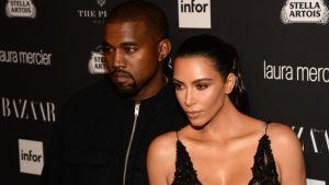 Bild på Kanye West och Kim Kardashian West