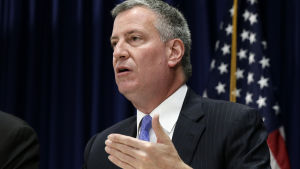 New Yorks borgmästare Bill de Blasio