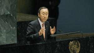 FN:s generalsekreterare Ban-Ki Moon är inte nöjd med den syriska regeringens beteende.