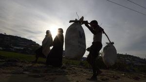 Rohingyer flyr från Burma till Bangladesh.