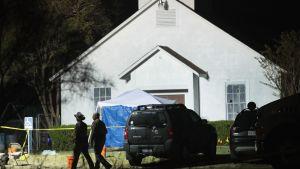 Massaker ägde rum i baptistkyrkan i Sutherland Springs