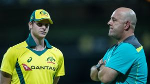 Steve Smith och Darren Lehmann.