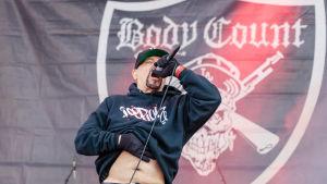 Ice-T i Body Count live på Download-festivalen i England 2018.