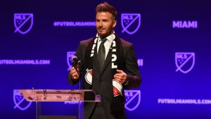David Beckham presenterar sitt nya lag i MLS