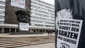 Antifascistiskt plakat i Chemnitz