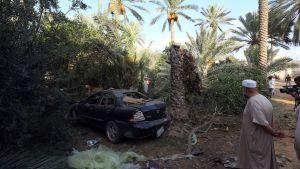 Spår efter granatattack i Libyens huvudstad Tripoli