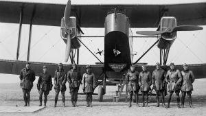 Stridsflyg, första världskriget och piloter som str framför det