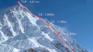 K2 är världens nästhögsta berg.