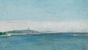 August Strindberg: landskap från Sandhamn med Korsö fyr 1873