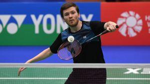 Kalle Koljonen är Finlands etta i badminton.