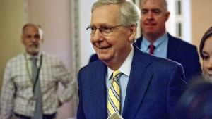 Den amerikanska politikern Mitch McConnell.