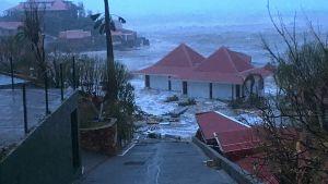 Förödelse på ön Saint-Barthelemy efter stormen Irma.
